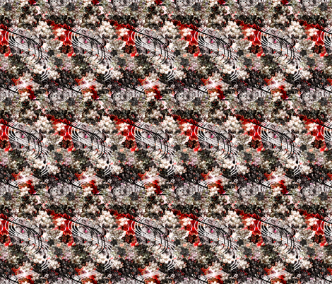Japanese ume wave black-red fabric by gavannapatterns on Spoonflower - custom fabric