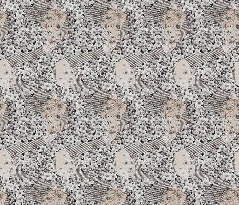 Japanese flow in black beige fabric by gavannapatterns on Spoonflower - custom fabric