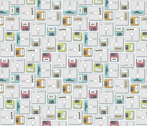 Floppy Diskettes fabric by jmday on Spoonflower - custom fabric