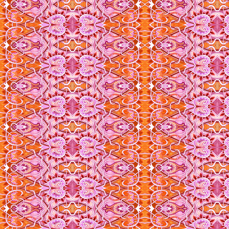 Orange and Pink Love Drops fabric by edsel2084 on Spoonflower - custom fabric