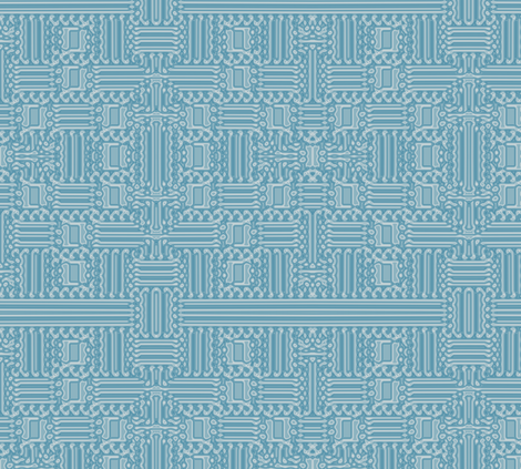 Aqua Abstract Geometric  Gingezel 2012 fabric by gingezel on Spoonflower - custom fabric