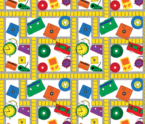 Outdated Technology  fabric by jlwillustration on Spoonflower - custom fabric