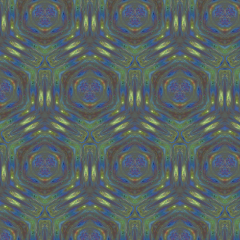 Lily Pad Abstract 1 © Gingezel™ 2012 fabric by gingezel on Spoonflower - custom fabric