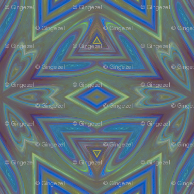Blue Green Tiled Look © Gingezel™ 2012