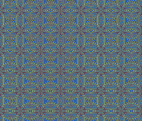 Blue Green Tiled Look © Gingezel™ 2012 fabric by gingezel on Spoonflower - custom fabric
