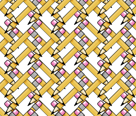 Pencils fabric by sammoore on Spoonflower - custom fabric