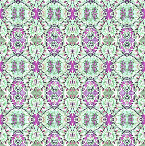 Heart of Mint fabric by edsel2084 on Spoonflower - custom fabric