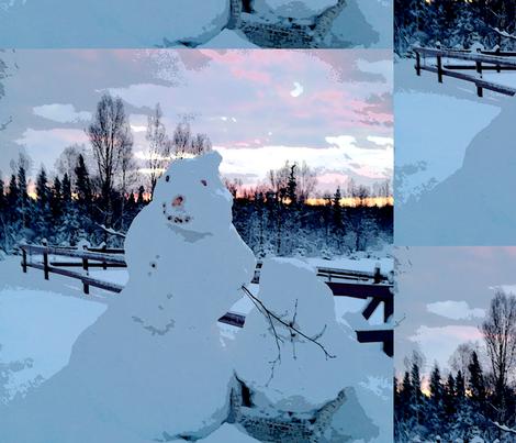 Snowmen fabric by fabracadabra on Spoonflower - custom fabric