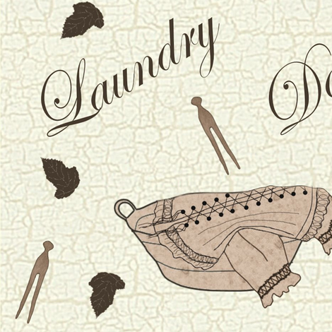 Laundry Day 1900 fabric by jabiroo on Spoonflower - custom fabric