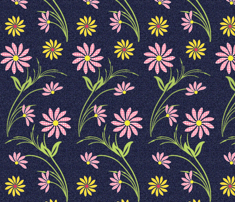Summer Picnic in Pink fabric by cksstudio80 on Spoonflower - custom fabric