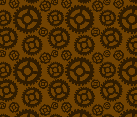 Gears fabric by katsanders on Spoonflower - custom fabric