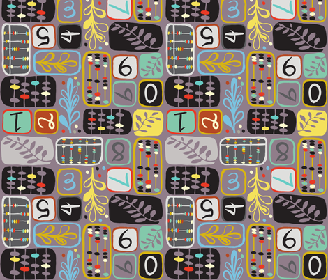 Abacus-Cadabracus!  fabric by gsonge on Spoonflower - custom fabric