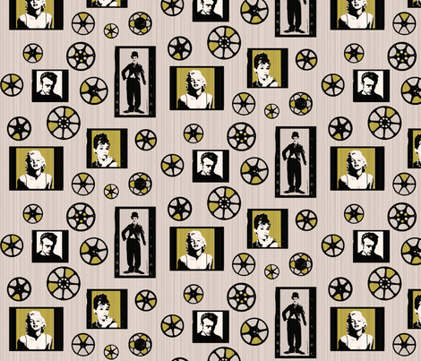 Retro movie reels fabric by lucybaribeau on Spoonflower - custom fabric