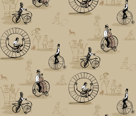 outdatedbikes fabric by johanna_design on Spoonflower - custom fabric