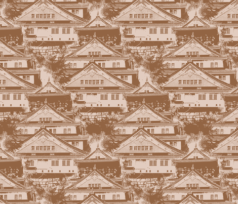 Osaka Castle fabric by siya on Spoonflower - custom fabric