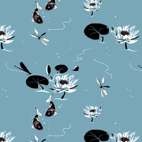 Koi_fish fabric by alfabesi on Spoonflower - custom fabric