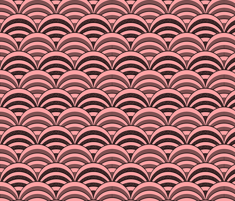 deco-dent coordinate scallop fabric by glimmericks on Spoonflower - custom fabric