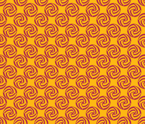 small swirleys - feel the heat fabric by glimmericks on Spoonflower - custom fabric