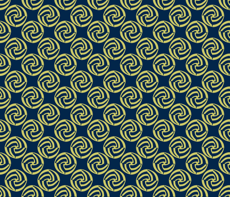 small swirleys - blue hen bounce fabric by glimmericks on Spoonflower - custom fabric