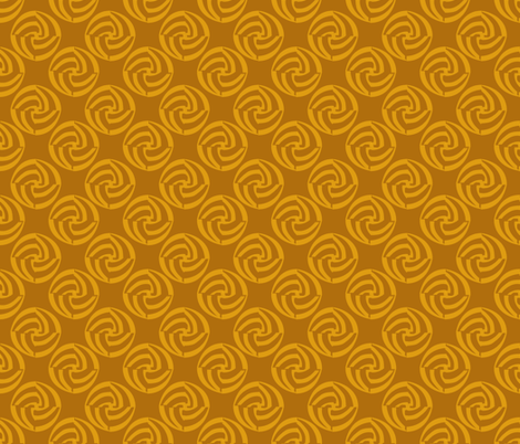 small swirleys - hot mustard fabric by glimmericks on Spoonflower - custom fabric