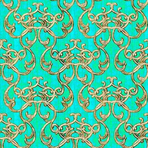 Damask Lagoon Green