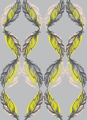FEATHER SKETCH-CITRON