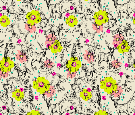 WOODLAND FOLK fabric by pattern_state on Spoonflower - custom fabric