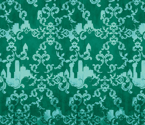 Dallas Wallpaper_ULTRAMARINE fabric by pattern_state on Spoonflower - custom fabric