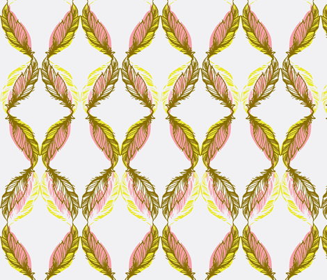 FEATHER SKETCH_VINTAGE fabric by pattern_state on Spoonflower - custom fabric