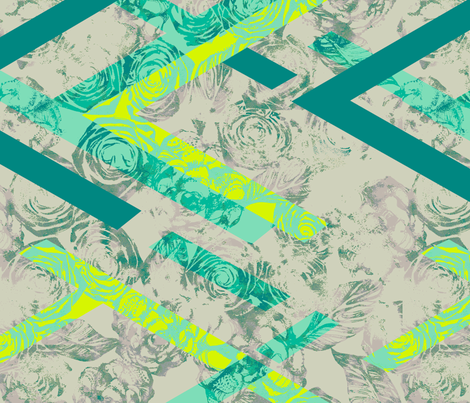 GEO ROSE_SPEARMINT fabric by pattern_state on Spoonflower - custom fabric