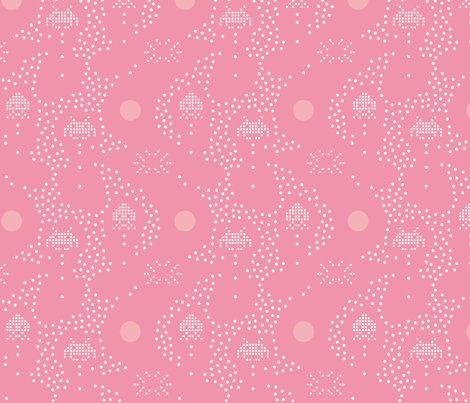 Space invaders  fabric by happy_to_see on Spoonflower - custom fabric