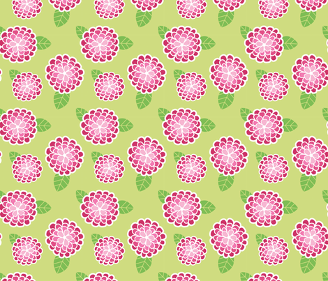 Zinnias fabric by smires on Spoonflower - custom fabric