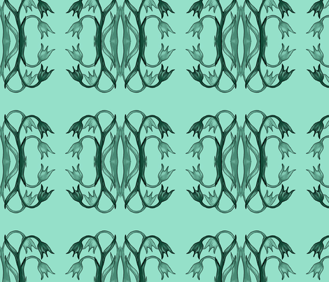 floral_in_greens fabric by dogdaze_ on Spoonflower - custom fabric