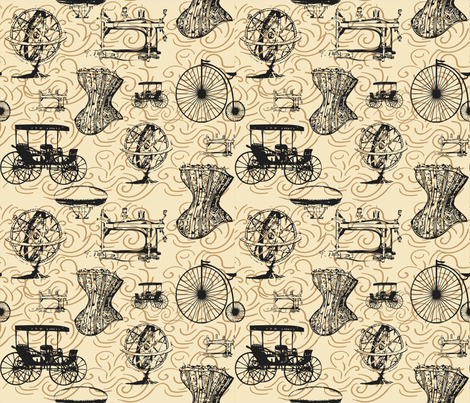 Victorian Times fabric by jenniferbabb on Spoonflower - custom fabric