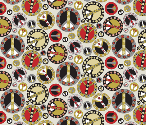 Peace Gold fabric by mag-o on Spoonflower - custom fabric