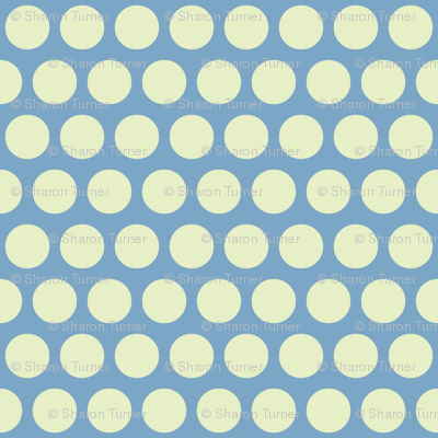 baby elephant ivory on blue polka