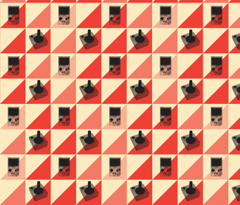 Push&Play fabric by lazycutie on Spoonflower - custom fabric
