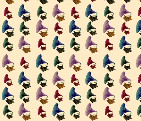 Phonographs! fabric by jubilli on Spoonflower - custom fabric