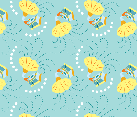 Gramophone fabric by needlebook on Spoonflower - custom fabric