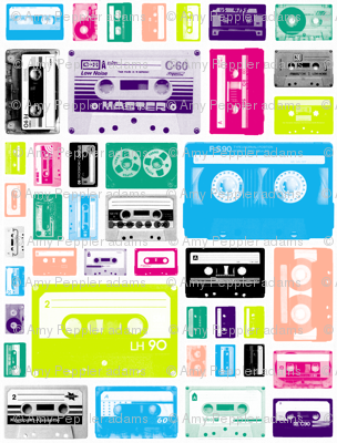 Mix Tapes (80s) || retro 70s 80s cassette music rock and roll collage vintage analog college dorm room hip hipster