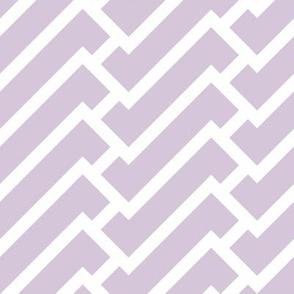 fretwork in lilac
