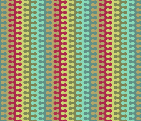 Swag Stripe Multi fabric by littlerhodydesign on Spoonflower - custom fabric