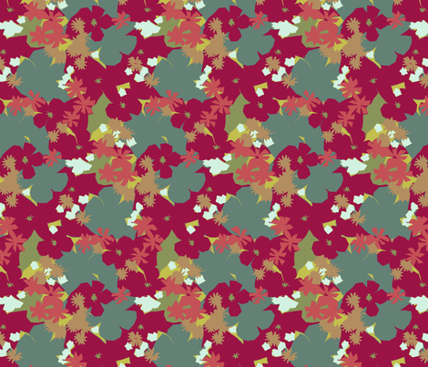 Funky Floral fabric by littlerhodydesign on Spoonflower - custom fabric