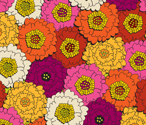 UrbanBouquet fabric by ghennah on Spoonflower - custom fabric