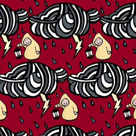 Lantern in a Lightning Storm fabric by pond_ripple on Spoonflower - custom fabric