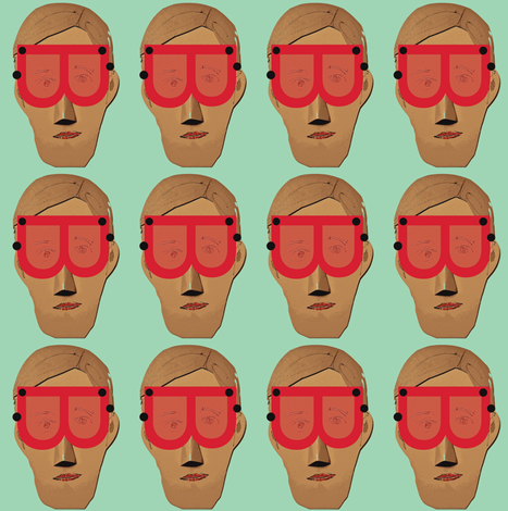 Men in Red Goggles fabric by boris_thumbkin on Spoonflower - custom fabric