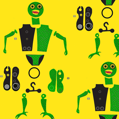 O-ring Action Figures fabric by boris_thumbkin on Spoonflower - custom fabric