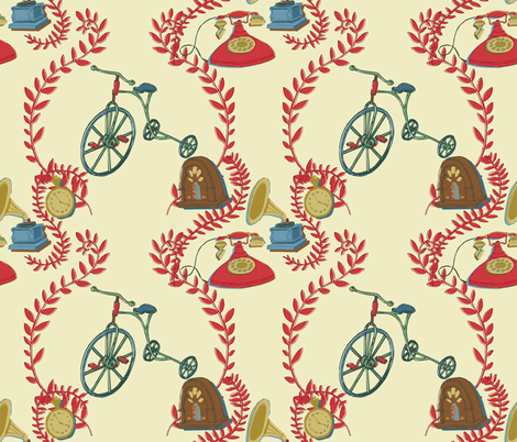 those good ol' days fabric by the_collectionist on Spoonflower - custom fabric