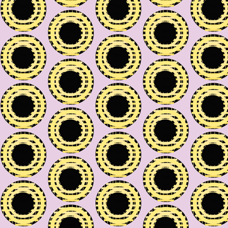 Yellow Grid Dots fabric by boris_thumbkin on Spoonflower - custom fabric