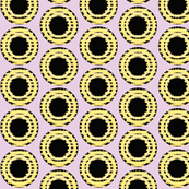 Yellow Grid Dots
